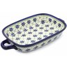 18-inch Stoneware Rectangular Baker with Handles - Polmedia Polish Pottery H6663C