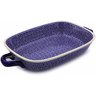 18-inch Stoneware Rectangular Baker with Handles - Polmedia Polish Pottery H7864A