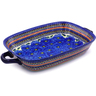 19-inch Stoneware Rectangular Baker with Handles - Polmedia Polish Pottery H3492C