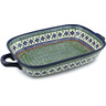 19-inch Stoneware Rectangular Baker with Handles - Polmedia Polish Pottery H3500C