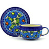 19 oz Stoneware Bouillon Cup with Saucer - Polmedia Polish Pottery H6445F