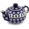 19 oz Stoneware Tea or Coffee Pot - Polmedia Polish Pottery H0845A