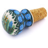 2-inch Stoneware Bottle Stopper - Polmedia Polish Pottery H5950G