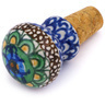 2-inch Stoneware Bottle Stopper - Polmedia Polish Pottery H6373G