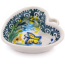2-inch Stoneware Mini Heart Bowl - Polmedia Polish Pottery H5628G