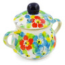 2-inch Stoneware Mini Sugar Bowl - Polmedia Polish Pottery H7953J
