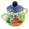 2-inch Stoneware Mini Sugar Bowl - Polmedia Polish Pottery H7958J