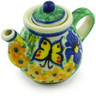 2-inch Stoneware Mini Tea Pot - Polmedia Polish Pottery H6241G