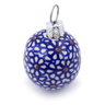 2-inch Stoneware Ornament Christmas Ball - Polmedia Polish Pottery H5959I