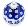 2-inch Stoneware Ornament Christmas Ball - Polmedia Polish Pottery H7678F
