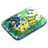 2-inch Stoneware Rectangle Pendant - Polmedia Polish Pottery H4610G