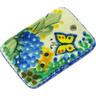2-inch Stoneware Rectangle Pendant - Polmedia Polish Pottery H4830G