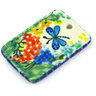 2-inch Stoneware Rectangle Pendant - Polmedia Polish Pottery H5373G