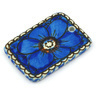 2-inch Stoneware Rectangle Pendant - Polmedia Polish Pottery H5837G