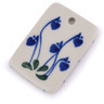 2-inch Stoneware Rectangle Pendant - Polmedia Polish Pottery H6127G