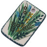 2-inch Stoneware Rectangle Pendant - Polmedia Polish Pottery H6295G