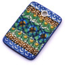 2-inch Stoneware Rectangle Pendant - Polmedia Polish Pottery H6778G
