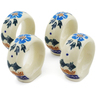 2-inch Stoneware Set of 4 Napkin Rings - Polmedia Polish Pottery H6175K