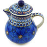 20 oz Stoneware Pitcher with Lid - Polmedia Polish Pottery H4809G