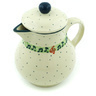 20 oz Stoneware Pitcher with Lid - Polmedia Polish Pottery H6573H