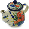 20 oz Stoneware Tea or Coffee Pot - Polmedia Polish Pottery H2089H