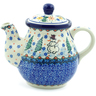 20 oz Stoneware Tea or Coffee Pot - Polmedia Polish Pottery H2571J