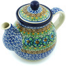 20 oz Stoneware Tea or Coffee Pot - Polmedia Polish Pottery H4219H