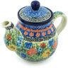 20 oz Stoneware Tea or Coffee Pot - Polmedia Polish Pottery H4522H