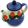 20 oz Stoneware Tea or Coffee Pot - Polmedia Polish Pottery H4824H