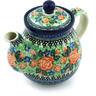 20 oz Stoneware Tea or Coffee Pot - Polmedia Polish Pottery H4869H