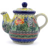 20 oz Stoneware Tea or Coffee Pot - Polmedia Polish Pottery H5346I