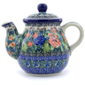20 oz Stoneware Tea or Coffee Pot - Polmedia Polish Pottery H5348I