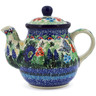 20 oz Stoneware Tea or Coffee Pot - Polmedia Polish Pottery H7562J