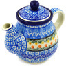 20 oz Stoneware Tea or Coffee Pot - Polmedia Polish Pottery H7949D