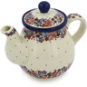 20 oz Stoneware Tea or Coffee Pot - Polmedia Polish Pottery H9110G