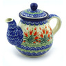 20 oz Stoneware Tea or Coffee Pot - Polmedia Polish Pottery H9458E