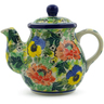 20 oz Stoneware Tea or Coffee Pot - Polmedia Polish Pottery H9937I