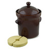 212 oz Stoneware Fermenting Crock Pot with Weight - Polmedia Polish Pottery H2655I
