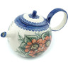 22 oz Stoneware Tea or Coffee Pot - Polmedia Polish Pottery H9384H