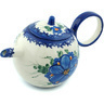 22 oz Stoneware Tea or Coffee Pot - Polmedia Polish Pottery H9450H