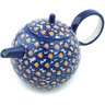 22 oz Stoneware Tea or Coffee Pot - Polmedia Polish Pottery H9452H