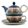 22 oz Stoneware Tea Set for One - Polmedia Polish Pottery H0495I