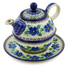 22 oz Stoneware Tea Set for One - Polmedia Polish Pottery H3376J