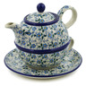 22 oz Stoneware Tea Set for One - Polmedia Polish Pottery H5612J