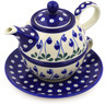22 oz Stoneware Tea Set for One - Polmedia Polish Pottery H9665F