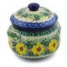 24 oz Stoneware Bouillon Cup with Lid - Polmedia Polish Pottery H7838J