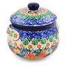 24 oz Stoneware Bouillon Cup with Lid - Polmedia Polish Pottery H7849J