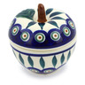 3-inch Stoneware Apple Shaped Jar - Polmedia Polish Pottery H6918J