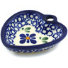 3-inch Stoneware Heart Shaped Bowl - Polmedia Polish Pottery H2901H