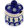 3-inch Stoneware Jar with Lid with Opening - Polmedia Polish Pottery H0330E